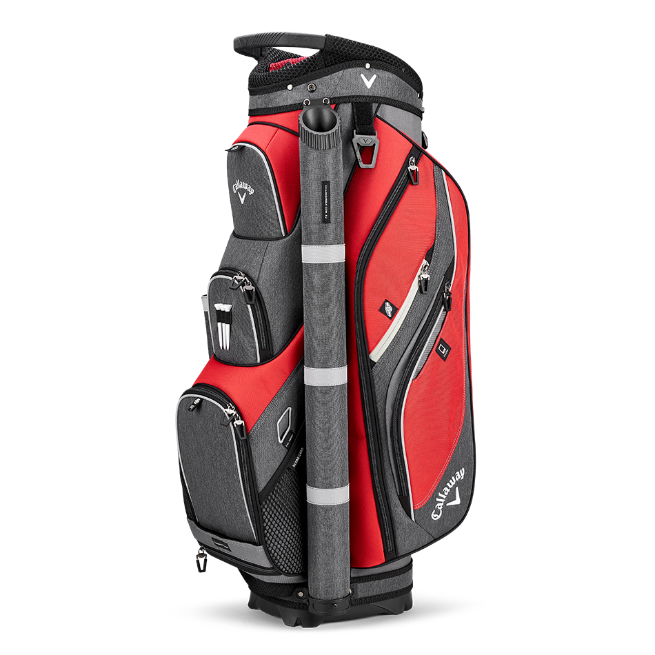 Callaway Forrester Cart Bag Red Titanium Silver