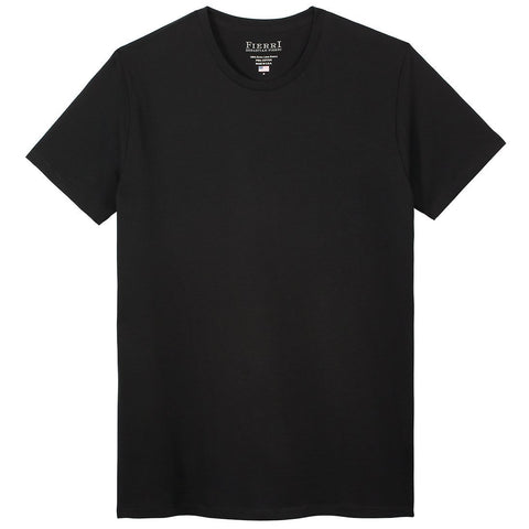 Fierri Pima Cotton Crew Neck Perfect Black T shirt