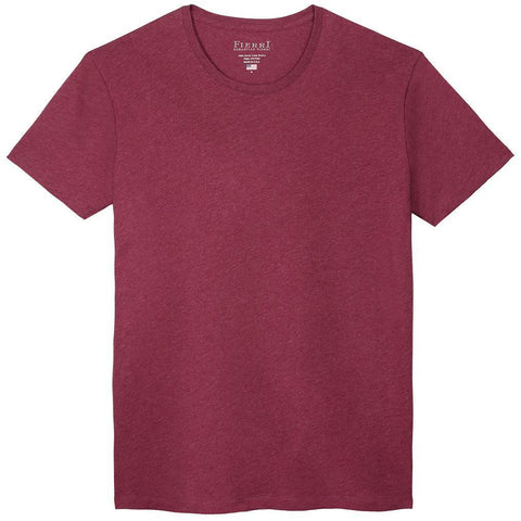 Fierri Pima Cotton Crew Neck Heather Burgundy T-shirt