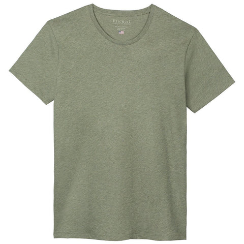 Fierri Pima Cotton Crew Neck Heather Green T-shirt