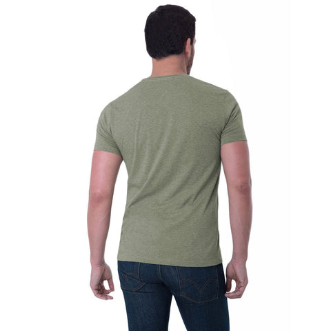 Fierri Pima Cotton Crew Neck Heather Green T Back