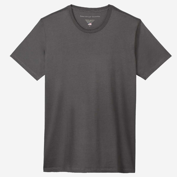 Fierri Egyptian Cotton Crew Dark Grey T-shirt