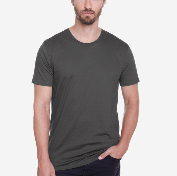 Egyptian Cotton Crew Dark Grey Short Sleeve T-shirt
