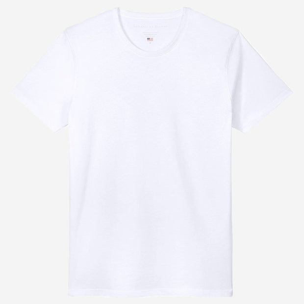 Fierri Egyptian Cotton Crew White T-shirt