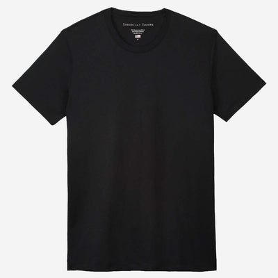 Fierri Egyptian Cotton Crew Black T-shirt