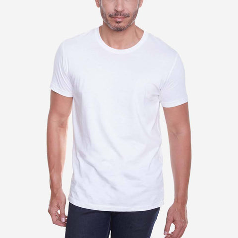 Egyptian Cotton Crew White Short Sleeve T-shirt
