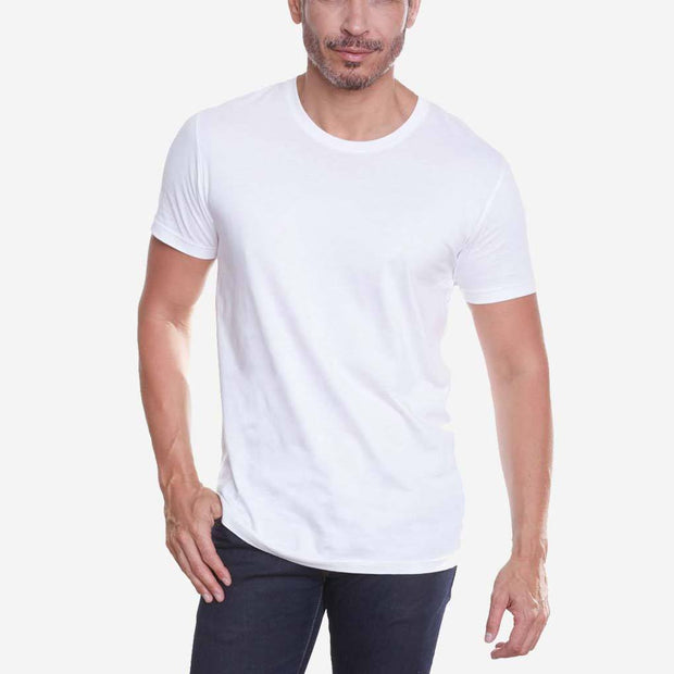 Egyptian Cotton Crew White T-shirt Relaxed