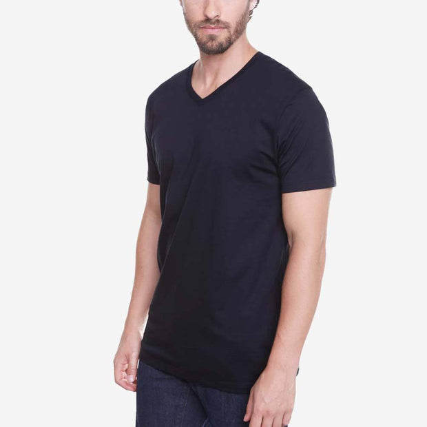 Egyptian Cotton V Neck Black Premium T shirt
