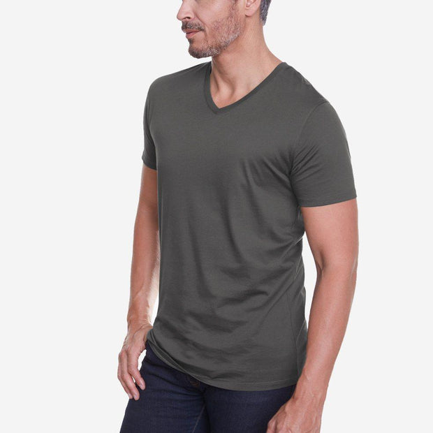 Egyptian Cotton V Neck Dark Grey  Quality T-shirt