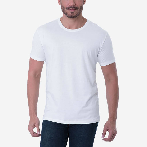 Fierri Pima Cotton Crew Neck White T-shirt