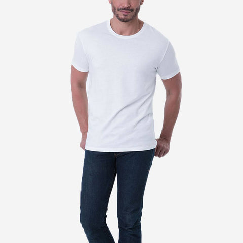 Fierri Quality Pima Cotton Crew Neck White Tee