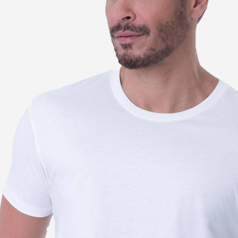 Fierri Best Pima Cotton Crew Neck White T-shirt