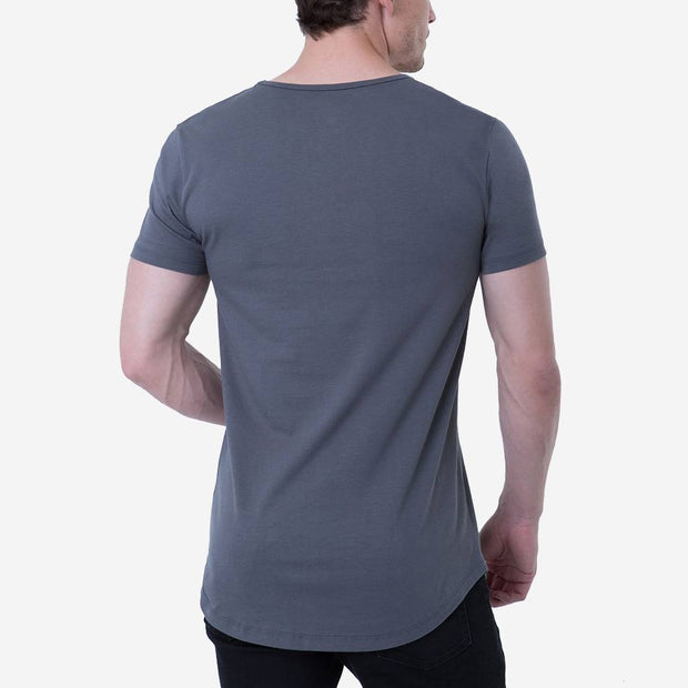 Pima - Long Body Curved Hem