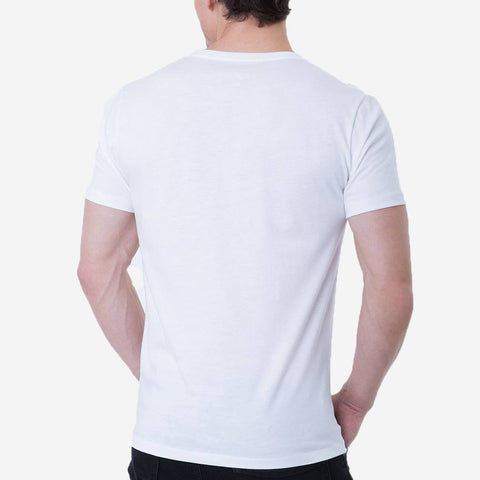 Fierri Best Pima Cotton Open Crew Neck White T-shirt