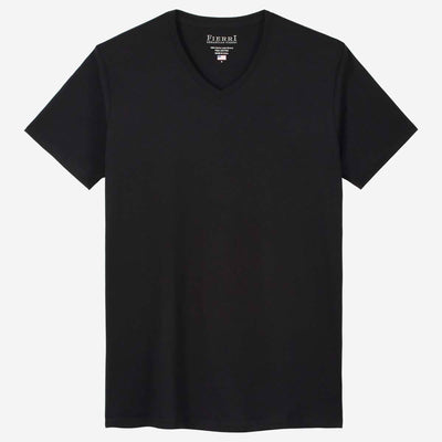 Fierri Pima Cotton V Neck Perfect Black T shirt