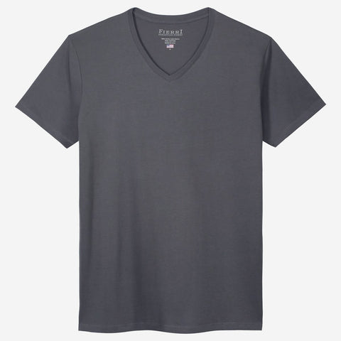 Fierri Pima Cotton V Neck Perfect Grey T shirt