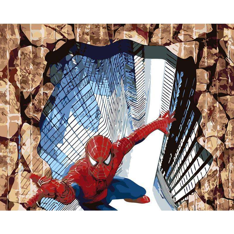 3D Spiderman - Paint by Numbers Kits for Adults DIY - Paint by Numbers for Adults