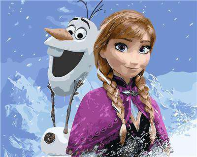 Anna and Olaf - Frozen - Paint by Numbers Kits for Adults DIY