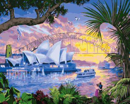Australia Sydney Opera House -  Paint by Numbers Kits for Adults DIY
