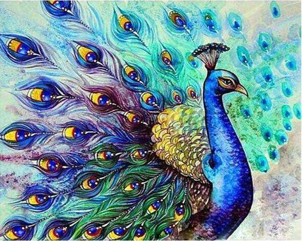 Beautiful Peacock - Paint by Numbers Kits for Adults DIY