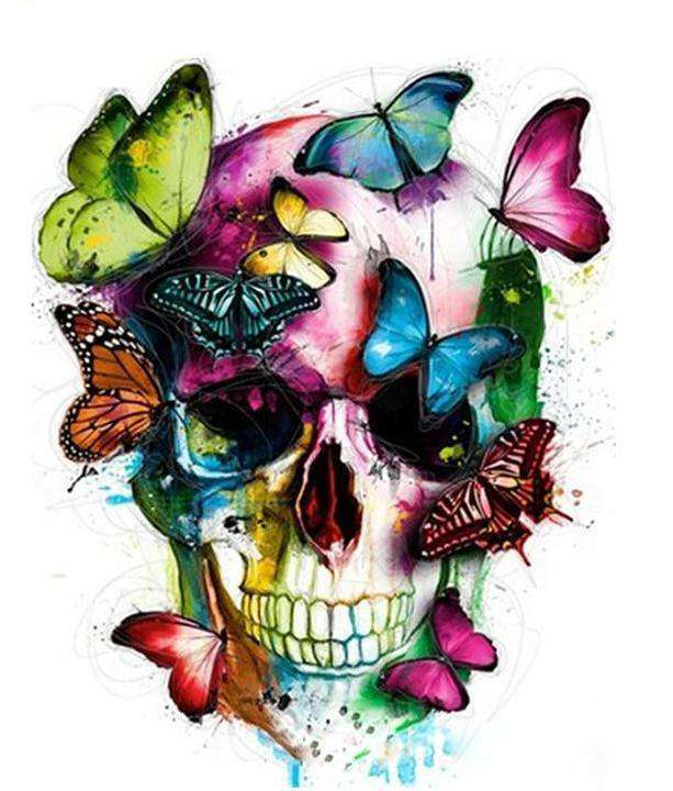 Butterfly Skull - Paint by Numbers Kits for Adults DIY