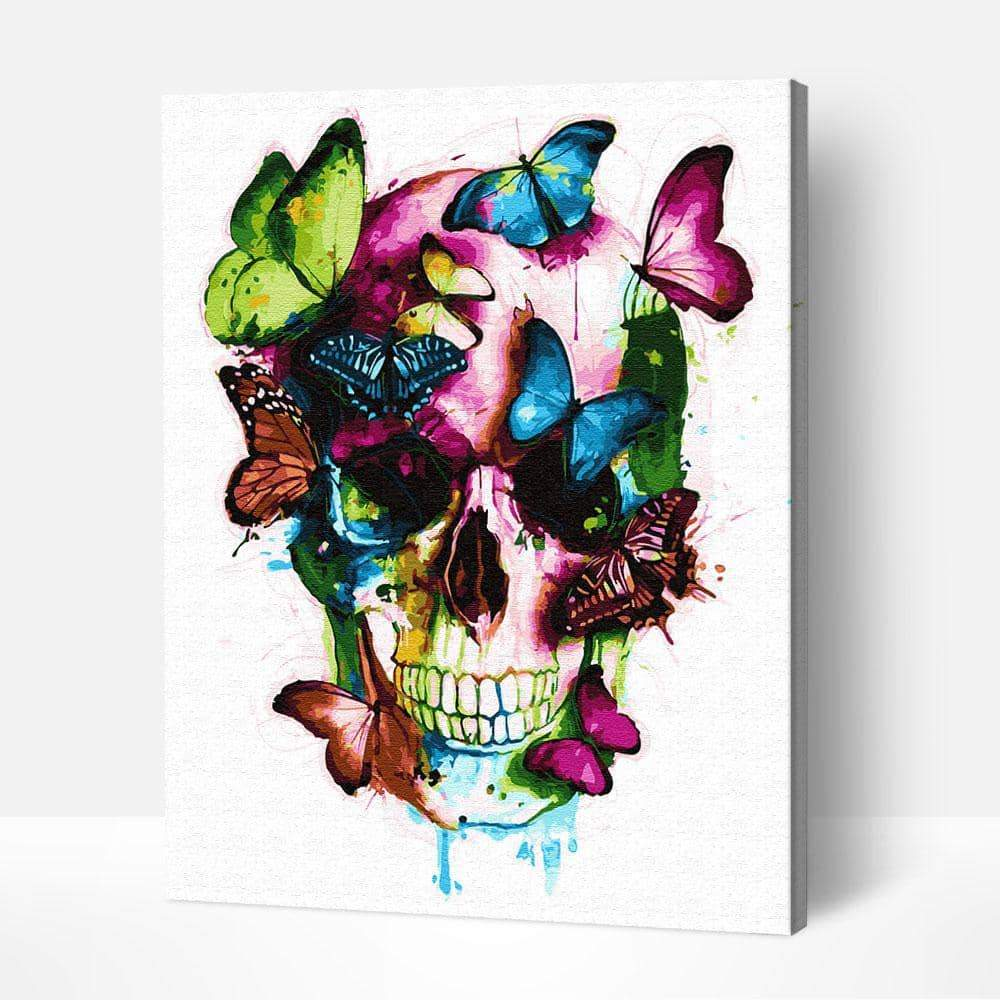 Butterfly Skull - Paint by Numbers Kits for Adults DIY - Paint by Numbers for Adults