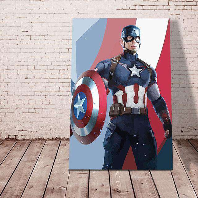 Captain America - Paint by Numbers Kits for Adults DIY - Paint by Numbers for Adults