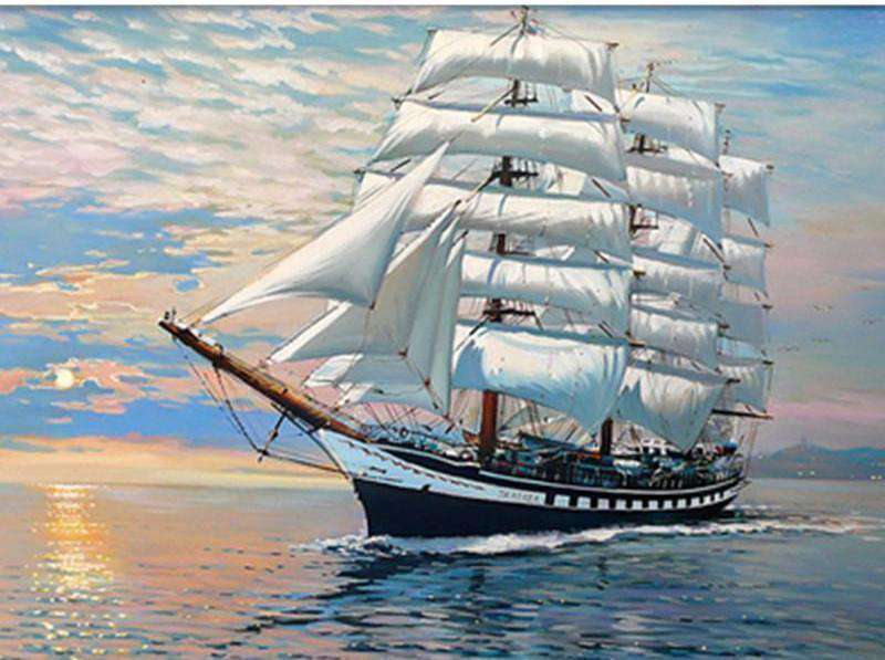 Caravel Seascape - Paint by Numbers Kits for Adults DIY - Paint by Numbers for Adults