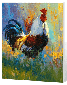 Chicken Rooster - Paint by Numbers Kits for Adults DIY
