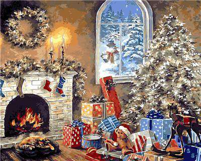 Christmas Decoration - Paint by Numbers Kits for Adults DIY