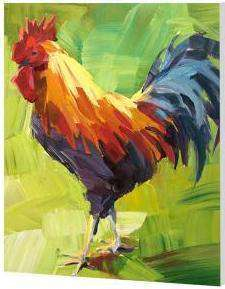Colorful Chicken Rooster - Paint by Numbers Kits for Adults DIY - Paint by Numbers for Adults