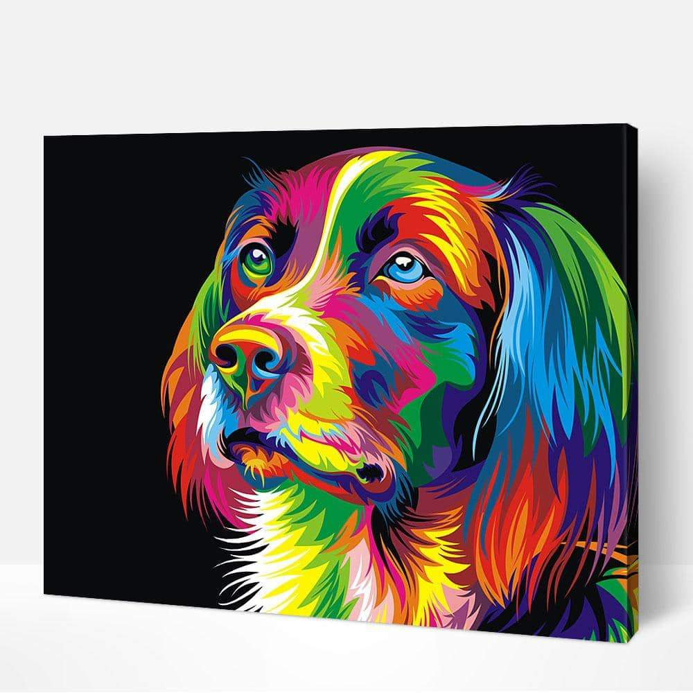 Colorful Dog - Paint by Numbers Kits for Adults DIY - Paint by Numbers for Adults