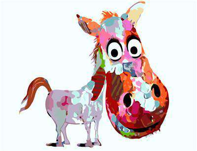 Colorful Donkey - Paint by Numbers Kits for Adults DIY