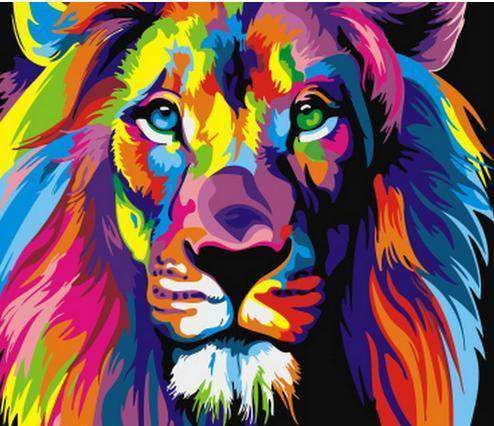 Colorful Lion - Paint by Numbers Kits for Adults DIY