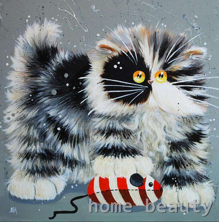 Crazy Cat - Paint by Numbers Kits for Adults DIY