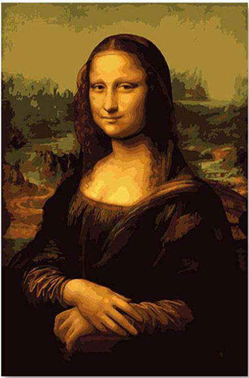 Da Vinci Mona Lisa - Paint by Numbers Kits for Adults DIY