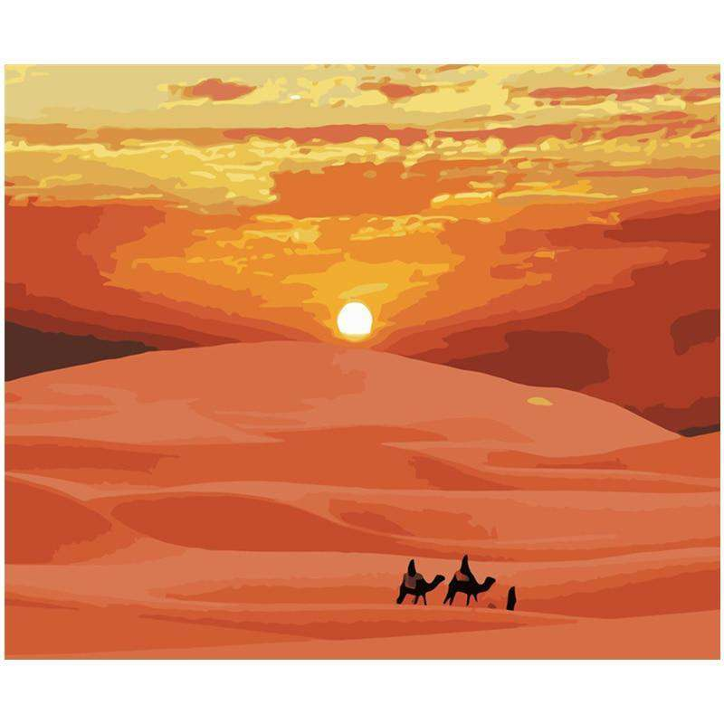Desert Camels - Paint by Numbers Kits for Adults DIY