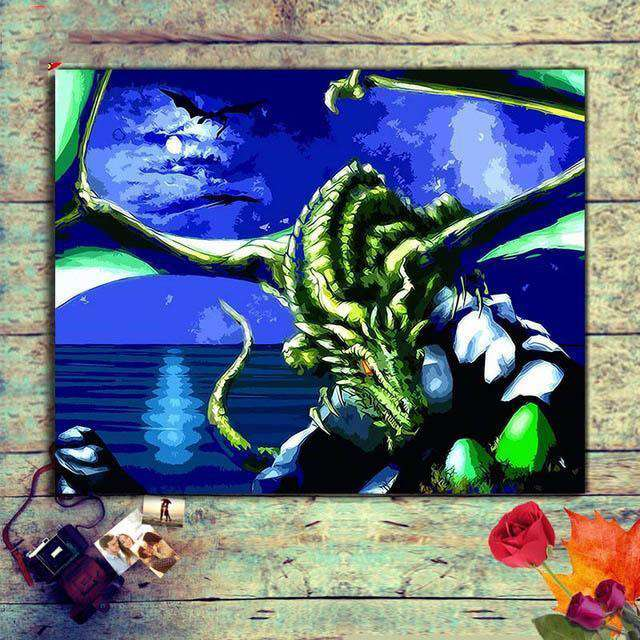 Dragon Alien - Paint by Numbers Kits for Adults DIY - Paint by Numbers for Adults