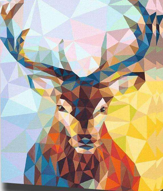 Geometric Deer - Paint by Numbers Kits for Adults DIY