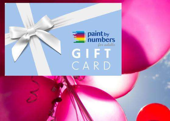 Gift Card Paint by Numbers
