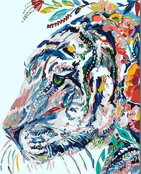 Gipsy Hipster Tiger - Paint by Numbers Kits for Adults DIY