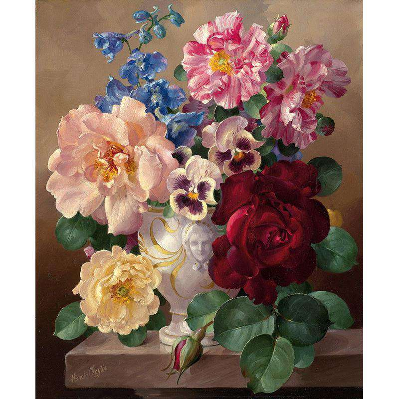 Grandma's Flowers - Paint by Numbers Kits for Adults DIY - Paint by Numbers for Adults