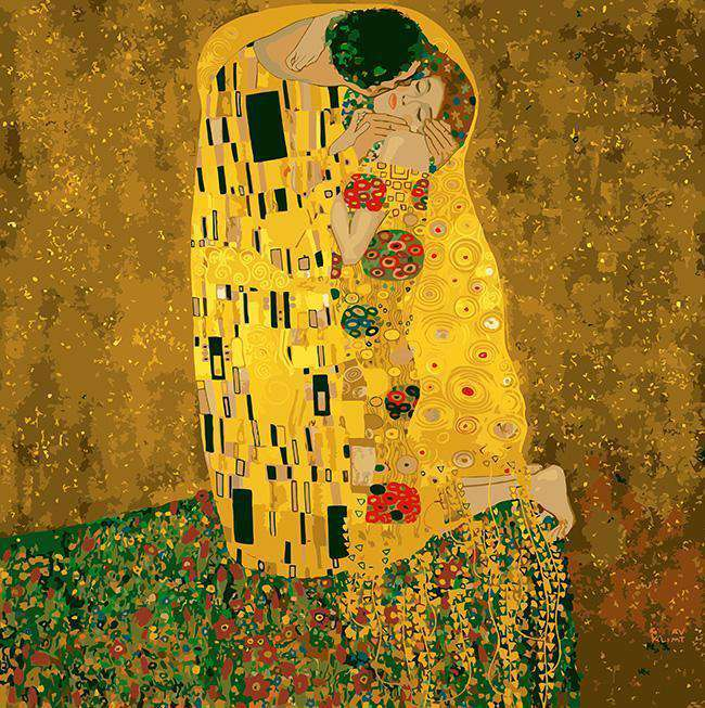 Gustav Klimt The Kiss - Paint by Numbers Kits for Adults DIY - Paint by Numbers for Adults