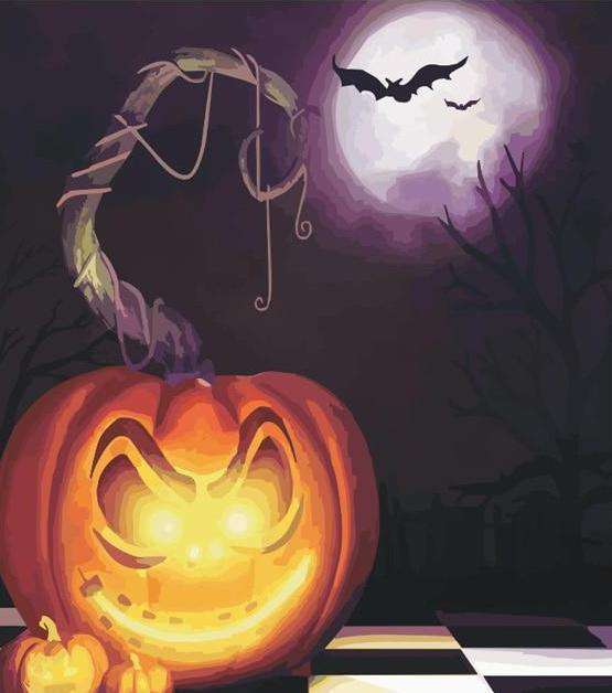 Halloween Evening - Paint by Numbers Kits for Adults DIY
