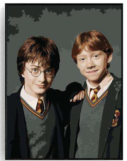 Harry Potter and Ron Weasley - Paint by Numbers Kits for Adults DIY - Paint by Numbers for Adults