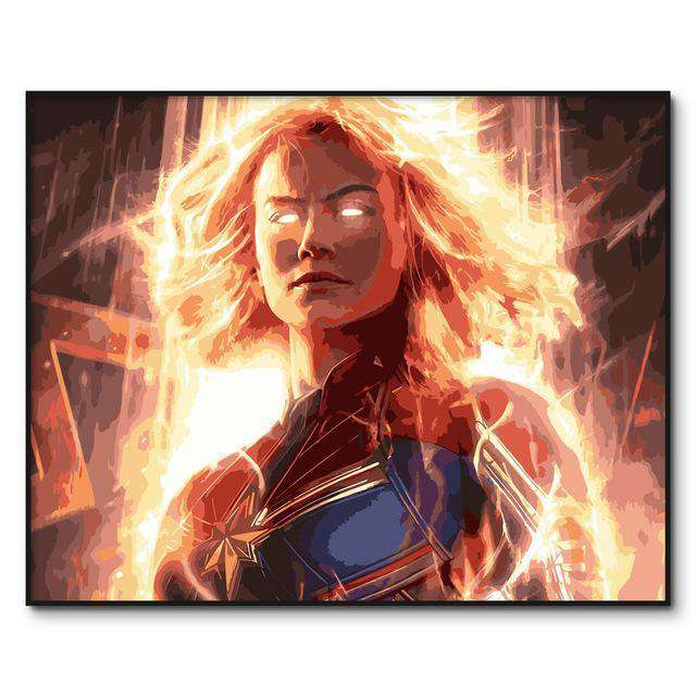 Heating Captain Marvel The Avengers - Paint by Numbers Kits for Adults DIY - Paint by Numbers for Adults