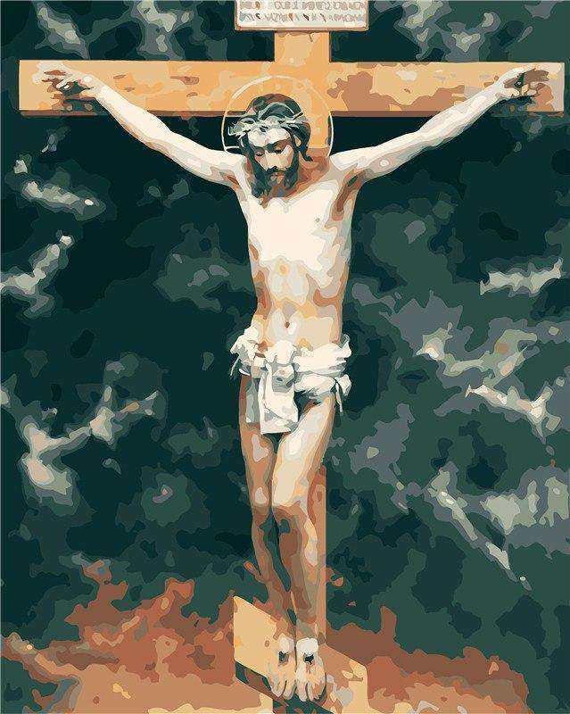 Jesus on the Cross - Paint by Numbers Kits for Adults DIY - Paint by Numbers for Adults