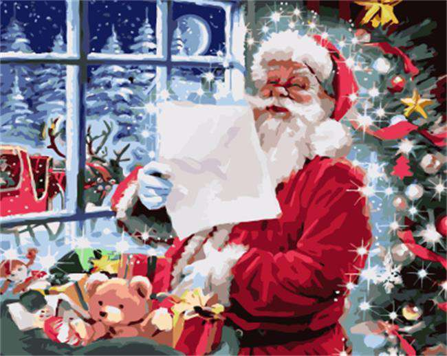 Letter to Santa Claus - Paint by Numbers Kits for Adults DIY