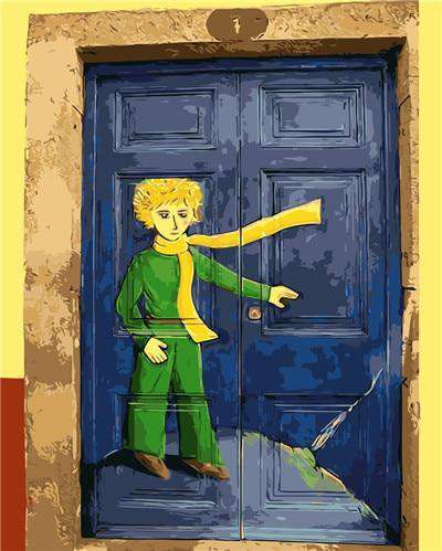 Little Prince Door - Paint by Numbers Kits for Adults DIY