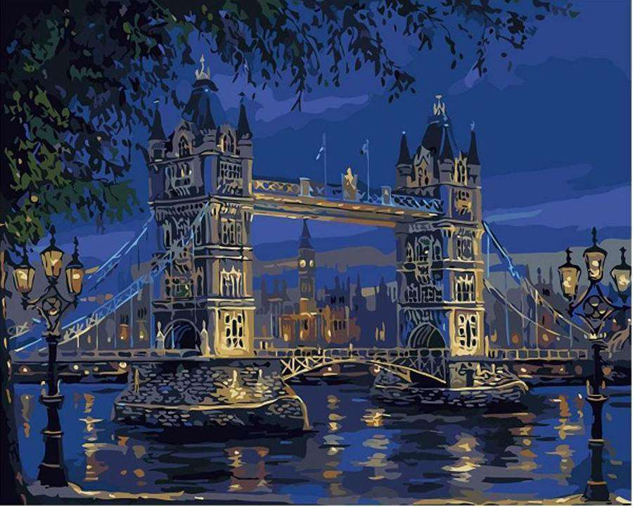 London Tower Bridge - Paint by Numbers Kits for Adults DIY